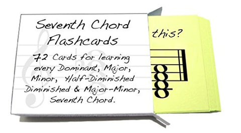 Seventh Chord Names Flashcard Sets Great For Learning Chords Minor