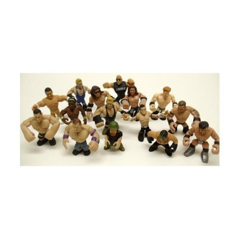 Set of 15 Officially Licensed WWE Wrestler Rumblers Wrestling Figures Featuring 15 Random Wrestler Figures with No Duplicates
