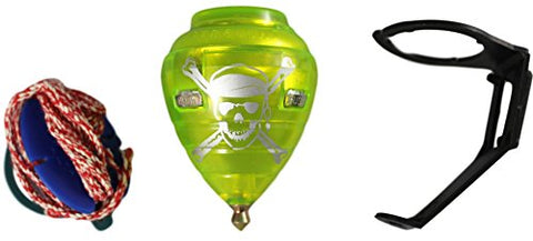 Pirate Durable Plastic Spin Tops & Metal Tip Made in Mexico - Trompo Mexicano Pirata Plstico Durable & Punta de Metal (Assorted Colors)