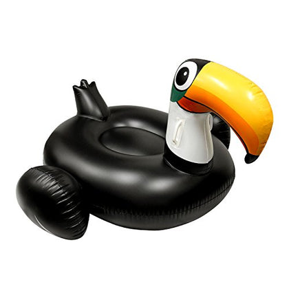 U.S. Pool Supply Giant 5 Foot Inflatable Black Toucan Pool Float - Fun Kids Swim Party Toy - Huge Summer Pool Lounge Raft