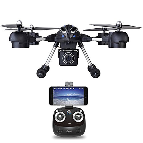 Contixo F10++ Quadcopter RC Drone 720P HD Wifi FPV Video Camera Altitude Hold Headless Mode 4 Channel 2.4GHz RTH GoPro HERO Action Camera Compatible - Best Gift