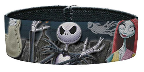 Elastic Bracelet - 1.0  - Nightmare Before Christmas 4-Character Group/Cemetery Scene