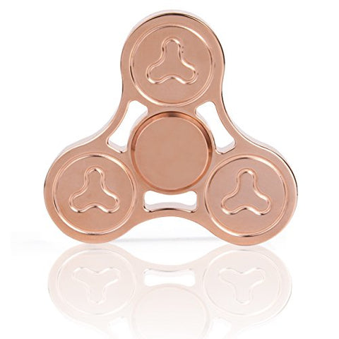 INZY Premium Fidget Spinner Toy - 100% Copper With 5+ Minutes Spin Time - High Speed R188 Black [Ceramic Bearings] - Best Anti-Anxiety Stress relief EDC Focus Toy For ADHD, Autism