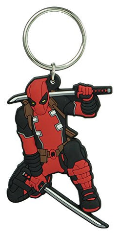 Marvel Deadpool Soft Touch Pvc Key Ring Accessories