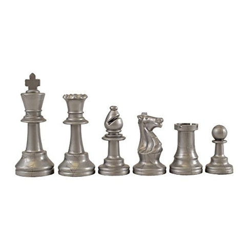 Wholesale Chess Staunton Colored Chess Pieces (Silver)