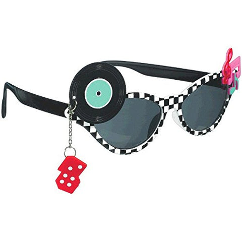 Stylish Birthday Party 50s Funshades Accessory, Plastic,