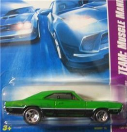 Hot Wheels 2008 Team Muscle Mania '69 Dodge Charger 135/196, Green