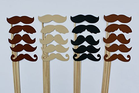 20 Mustaches Photo Props For Photo Booth By Paper And Pancakes