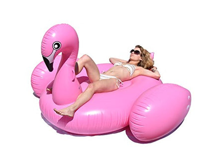 BonBon Original Giant Flamingo Inflatable Pool Float- 80 Inches. USA Seller.