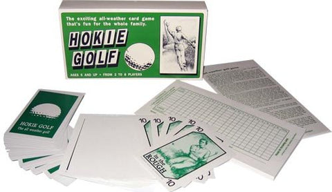 Hokie Golf - The Golf Card Game - Play Eighteen or Nine Holes of Golf with this Golf Sports Card Game from Wackee Games