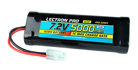 NiMH 7.2V 6-cell 5000mAh Flat Pack with Tamiya Connector