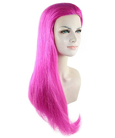 Cece Jesse Pokmon Women's Wave Curly Wig Long Hair Fantasy Hairpiece For Cosplay Dress up Costume Hot Pink