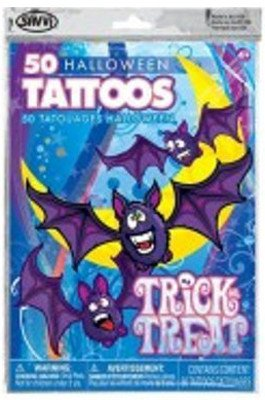 Haunted House - 50 Halloween Temporary Tattoos