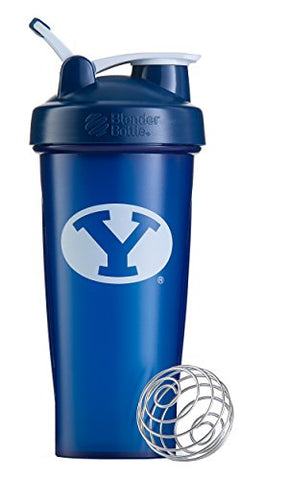 Blenderbottle Classic Ncaa Collegiate Shaker Bottle, Brigham Young University - Blue/White, 28-Ounce
