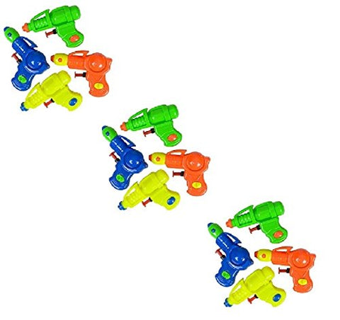 Novelty Treasures COLORFUL Plastic SPACE Water Squirt Guns (12)