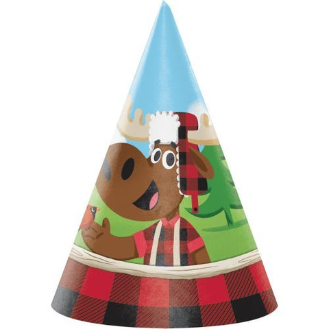 8-Count Child-Sized Party Hats, Lum-Bear-Jack