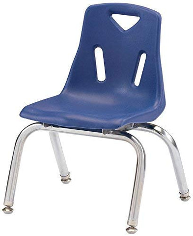 "Berries 8140Jc1003 Stacking Chair With Chrome-Plated Legs, 10"" Height, Blue"