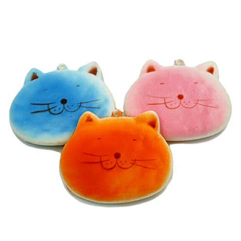 Popculta Cute Cat Face Squishy Charm Toy Extra Soft