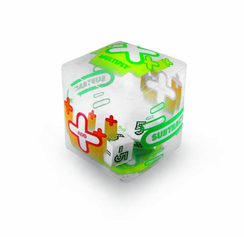 American Educational Clear Vinyl Tumble 'N Teach Positive and Negative Integers 3 Function Math Cube, 7  Size