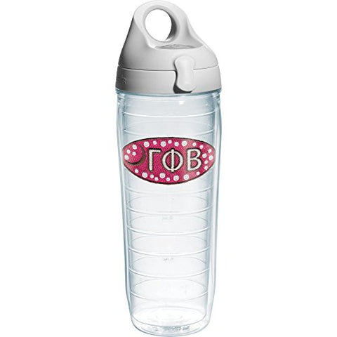 Tervis Gamma Phi Beta Sorority Water Bottle With Lid, 24 Oz, Clear