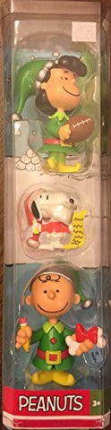 Peanuts 3 Piece Christmas Figurine Set