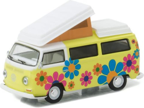 New 1:64 CLUB V-DUB SERIES 4 ASSORTMENT - MULTI COLOR 1968 VOLKSWAGEN T2 TYPE 2 CAMPMOBILE - HIPPIE DIPPY WEATHER VAN Diecast Model Car By Greenlight
