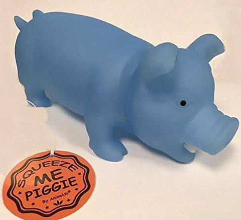 Animolds Squeeze Me Piggy, Blue - Glow In The Dark