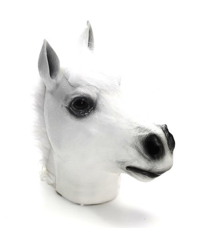 Forum Novelties White Horse Deluxe Latex Farm Animal Costume Mask