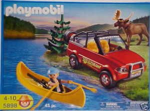 Playmobil 5898 Playset 4-Wheel Drive with Kayak and Ranger 45 Pc. Set