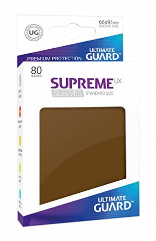 Supreme UX Card Sleeves (80 Piece), Brown, Standard Size