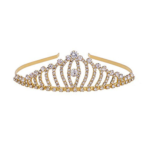 YUE DOU XIONG Fashion Bridal Hair Crown Head Dress Rhinestone Wedding Tiara Birthday Party Crown Comb Hair Clip Headband