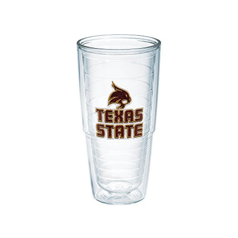 Tervis Texas State University Emblem Individual Tumbler, 24 Oz, Clear