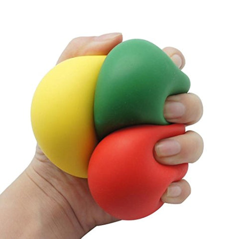 Stress Toy,Ieason Low Resistance Squishy Stress Reliever Ball Autism Finger Fidget Exercise Toys (Random)