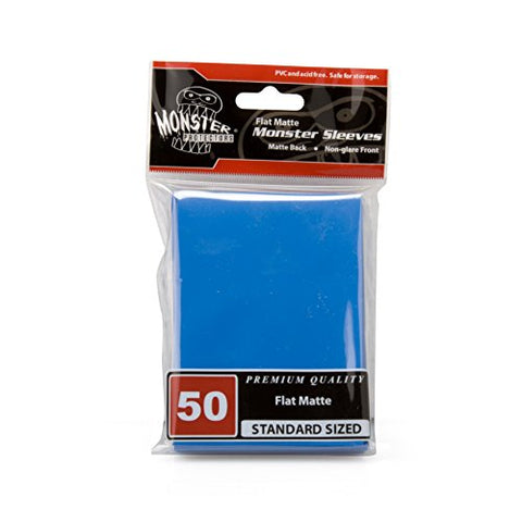 Sleeves - Monster Protector Sleeves - Standard MTG Size Flat Matte - BLUE (Fits Magic and Standard Sized Gaming Cards)