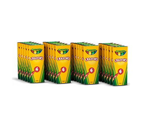 Crayola 4 ct Crayons - 24 boxes per case pack