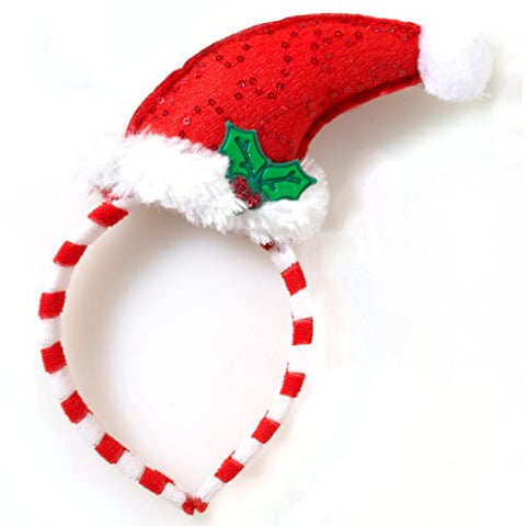 Mini Santa Hat with Mistletoe Headband