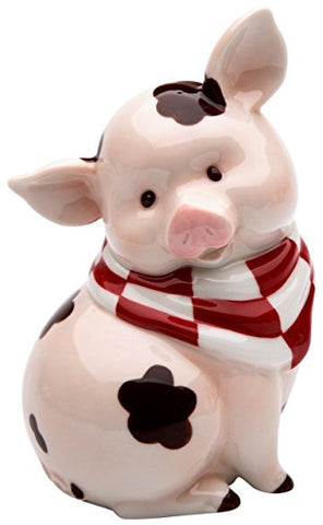 StealStreet SS-CG-61760 5.5  Sitting Pink Pig with Brown Mud Spots Money Piggy Bank