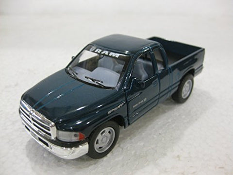 Dodge Ram Quad Cab In Green Diecast 1:44 Scale By Kinsmart
