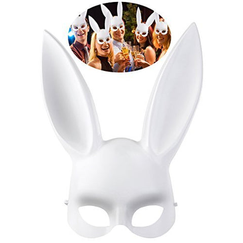 Bestoyard Masquerade Mask Rabbit Mask Bunny Mask For Birthday Party Easter Halloween Costume Accessory Party Favors