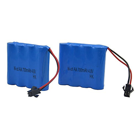 Blomiky 2pcs 4.8V 700mAH Battery for Blomiky C182 C185 C181 1/18 1:18 RC Truck Rock Crawler Vehicle or RC Car C181 Battery