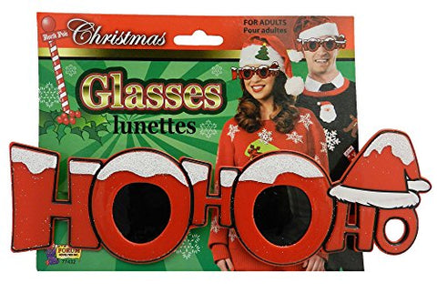 Forum Novelties Christmas Glasses (Ho Ho Ho)