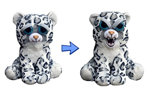 William Mark- Feisty Pets: Lethal Lena- Adorable 8.5  Plush Stuffed Snow Leopard that Turns Feisty with a Squeeze