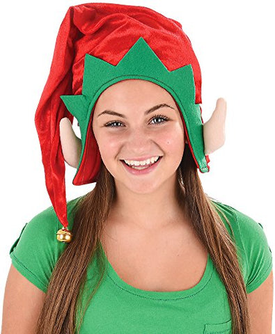 Christmas Holiday Jumbo 28  Red Elf Hat (1 per order)