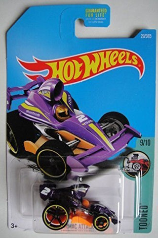 Hot Wheels, 2017 Tooned, Tarmac Attack Mini Car [Purple] 29/365