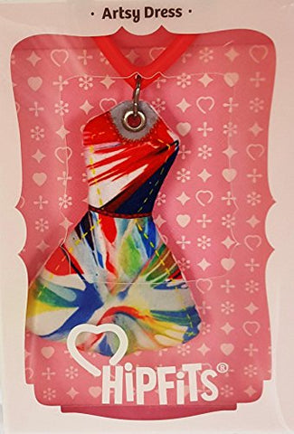 HipFits Artsy Dress Silent Fidget and Backpack Charm- Discrete and Compact Fidget