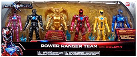 Bandai Collectible Power Rangers Team 6-Piece Set With Exclusive Metallic Goldar
