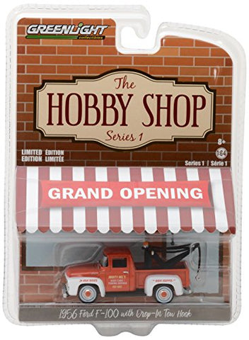 GreenLight - (1:64 Scale) THE HOBBY SHOP SERIES 1 - 1956 FORD F-100 WITH DROP-IN TOW HOOK - 97010-A