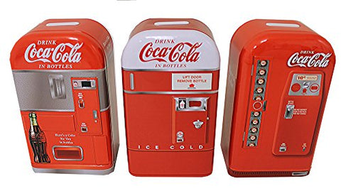 Tin Box 1950s Coca-Cola Vending Machine Tin Banks Set 3