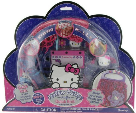 Hello Kitty Crafts Quick Knit Trendy Tote Kit