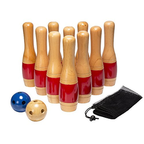 Hey! Play! 11  Wooden Lawn Bowling Set Game